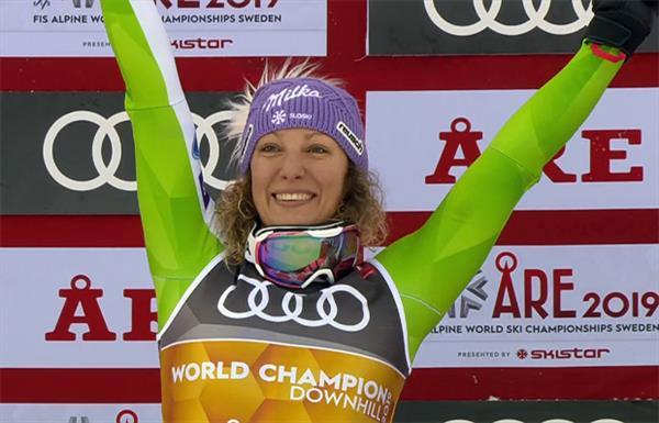 Двукратная чемпионка мира встала на лыжи после травмы 1