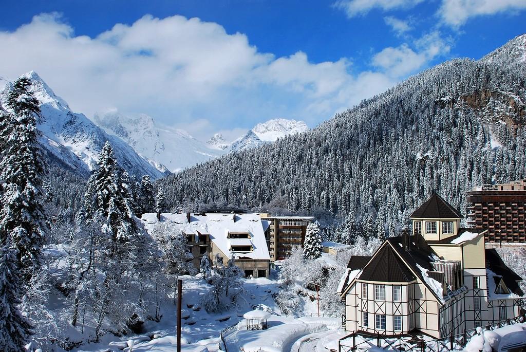 Лучшие горнолыжные курорты России 5