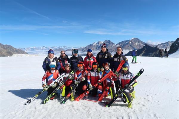 Первый состав женской сборной России завершил тренировки в Саас Фе 1