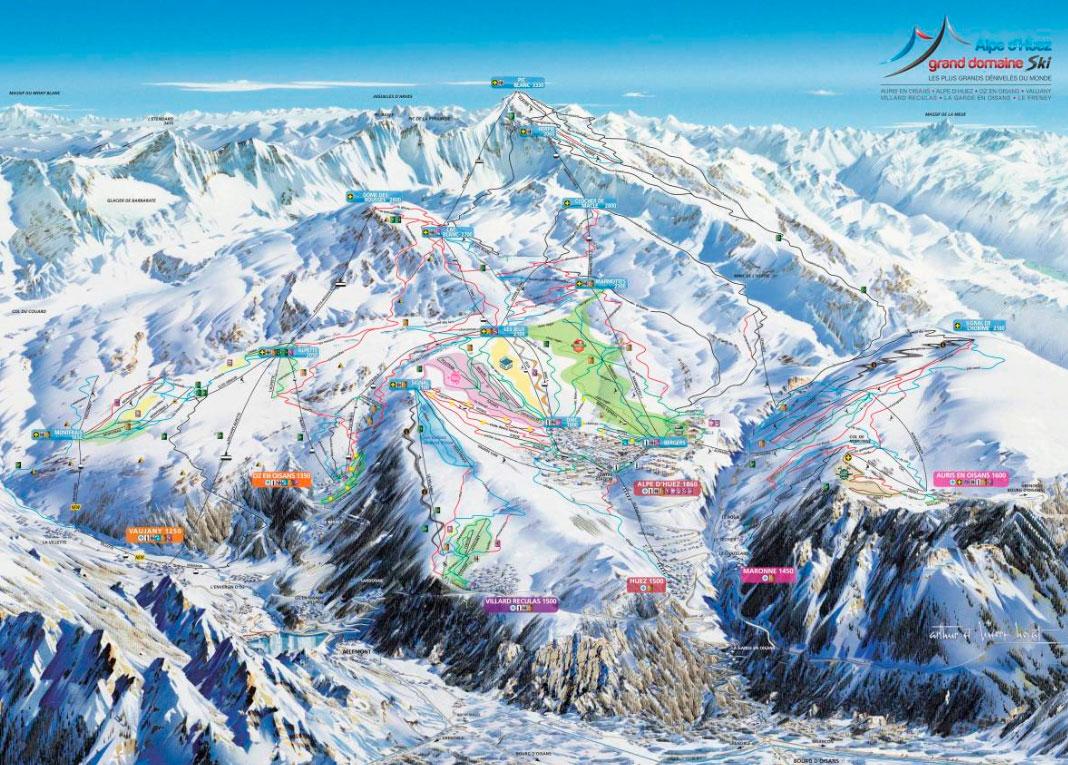Горнолыжный курорт Alpe d'Huez 2