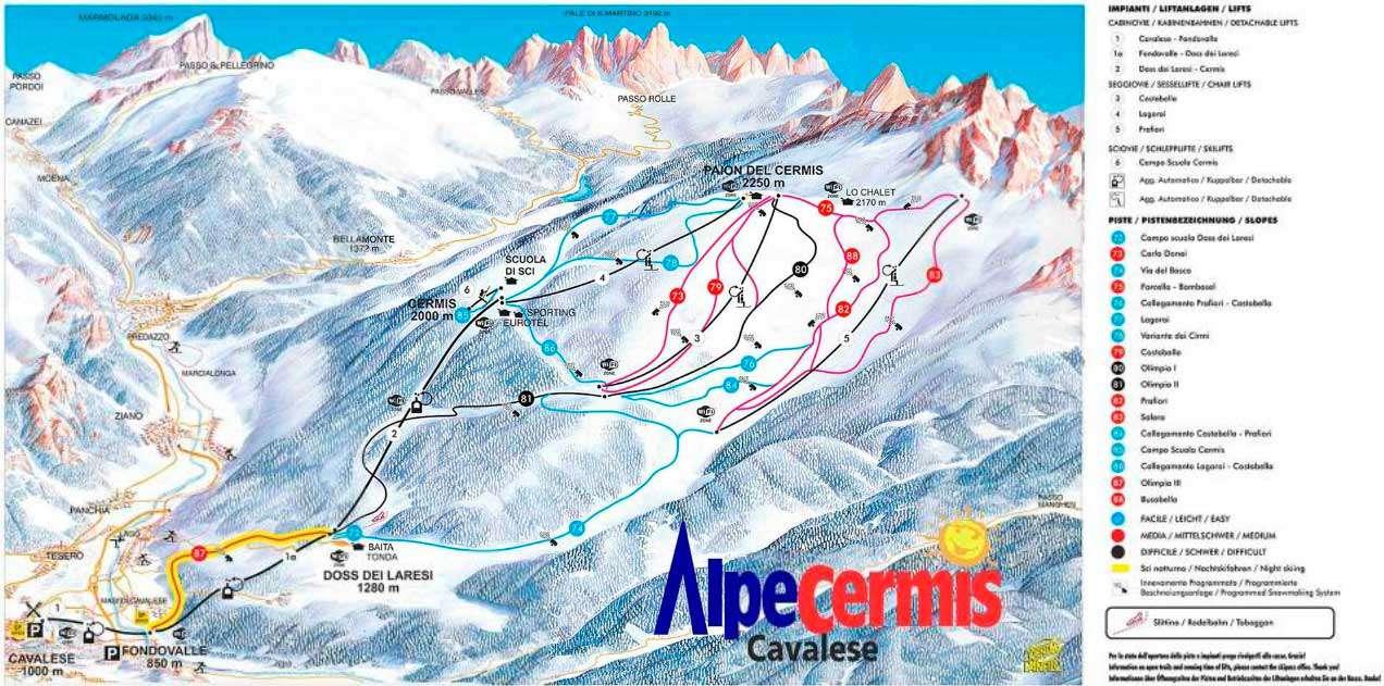 Горнолыжный курорт Alpe Cermis – Cavalese 2