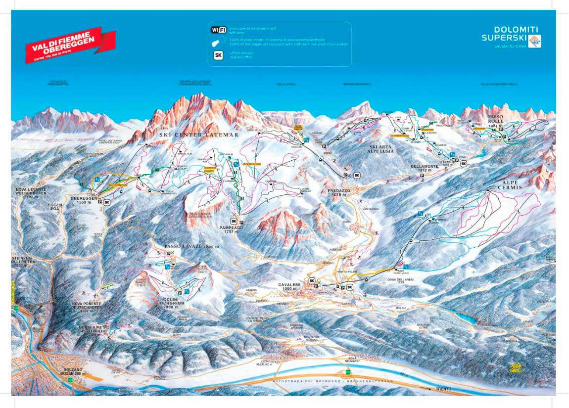 Горнолыжный курорт Alpe Cermis – Cavalese 3