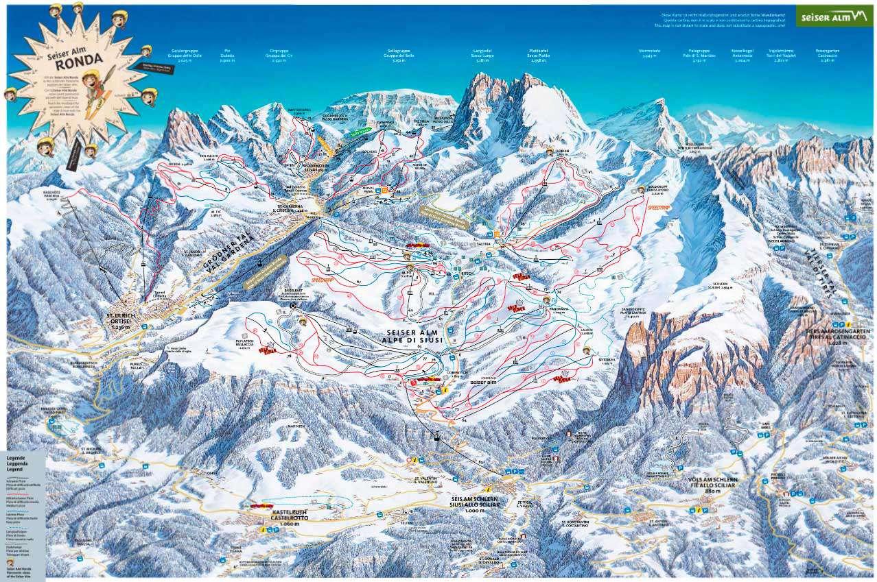 Горнолыжный курорт Alpe di Siusi (Seiser Alm) 2