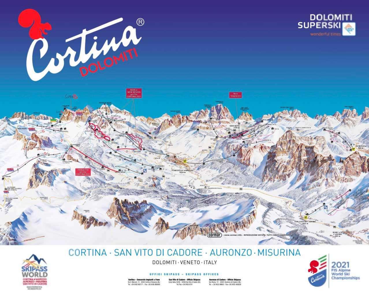 Горнолыжный курорт Cortina d'Ampezzo 2