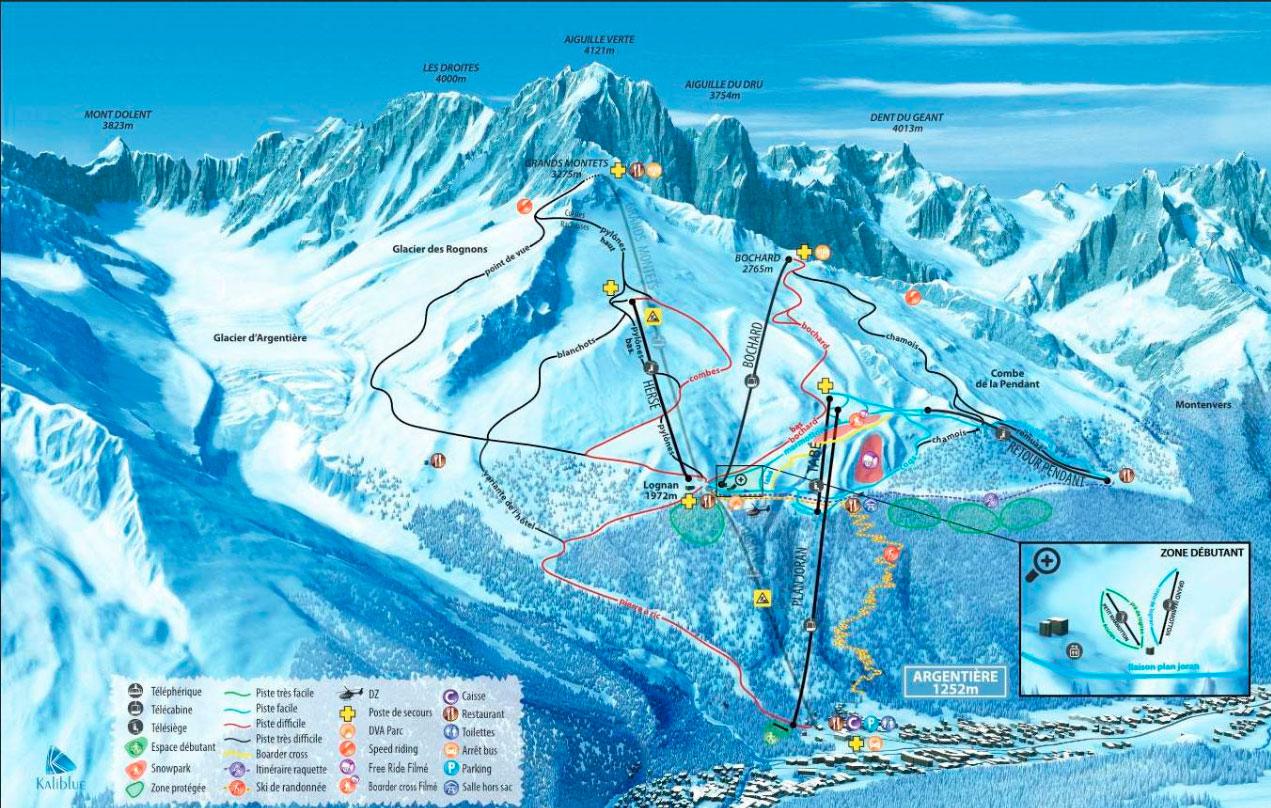 Горнолыжный курорт Grands Montets – Argentière (Chamonix) 2