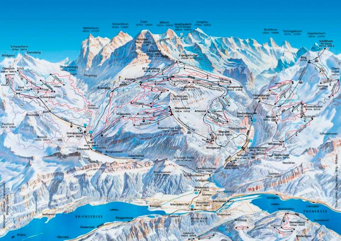Горнолыжный курорт Kleine Scheidegg / Männlichen – Grindelwald / Wengen 3