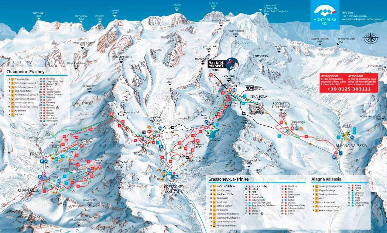 Горнолыжный курорт Alagna Valsesia / Gressoney-La-Trinité / Champoluc / Frachey (Monterosa Ski) 2
