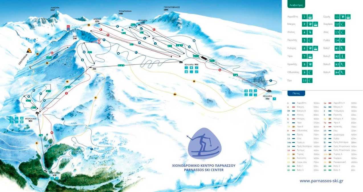 Горнолыжный курорт Mount Parnassos – Fterolakka / Kellaria 2