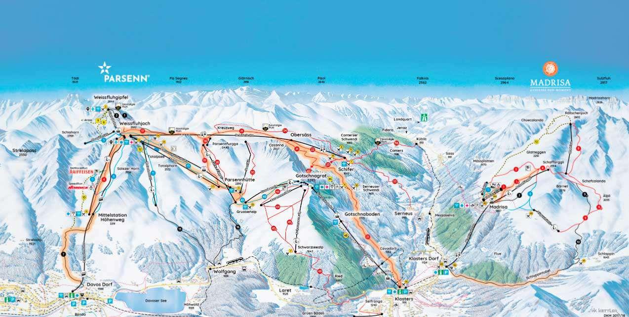 Горнолыжный курорт Parsenn (Davos Klosters) 2