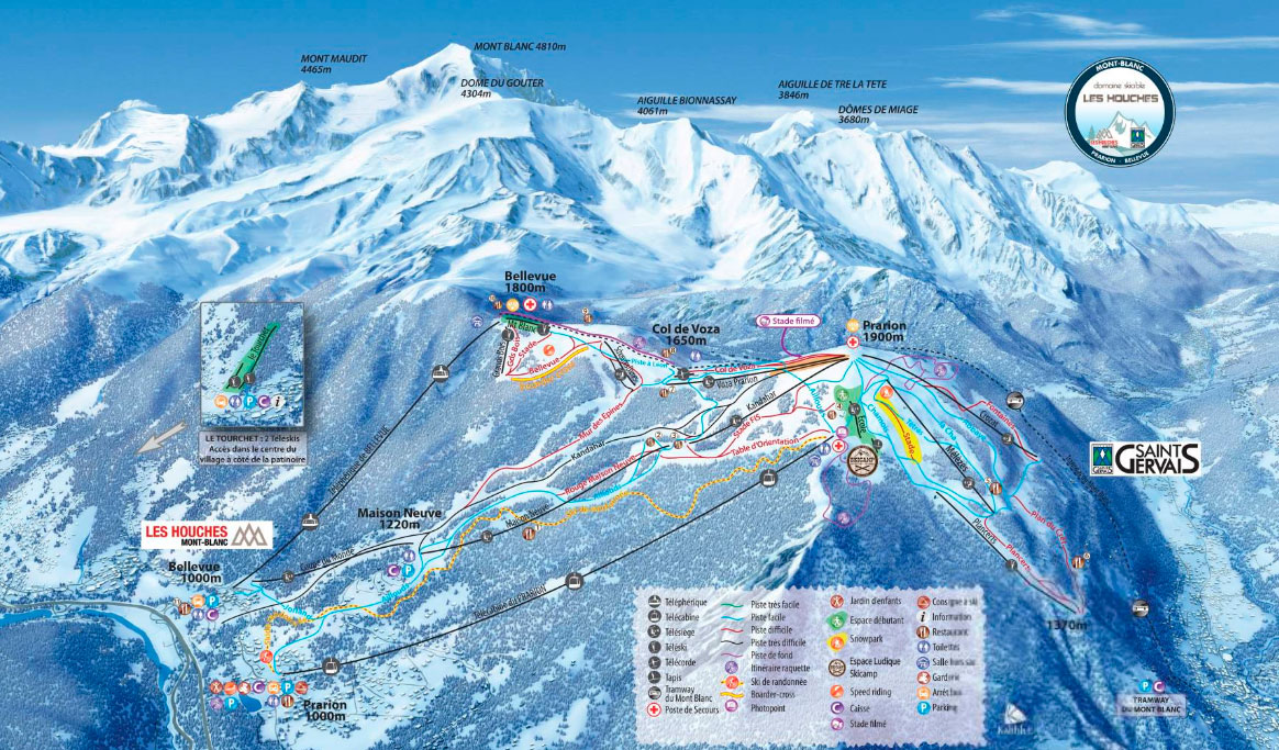 Горнолыжный курорт Les Houches / Saint-Gervais – Prarion / Bellevue (Chamonix) 2