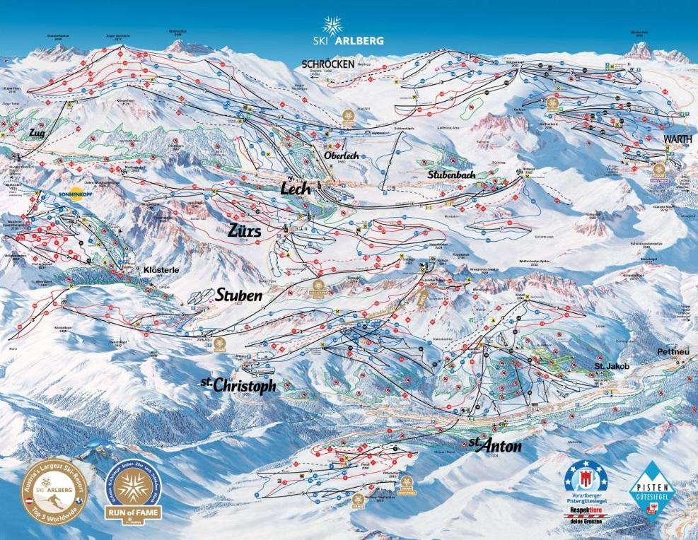 Горнолыжный курорт St. Anton / Stuben / Lech / Zürs / Warth – Ski Arlberg 2