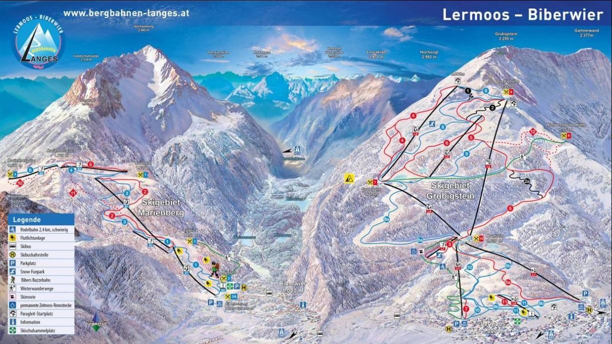 Горнолыжный курорт Lermoos – Grubigstein 2