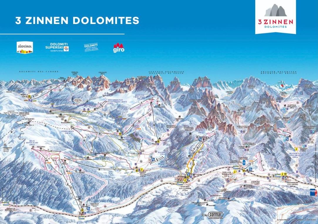 Горнолыжный курорт 3 Zinnen Dolomites – Helm / Stiergarten / Rotwand / Kreuzbergpass 2
