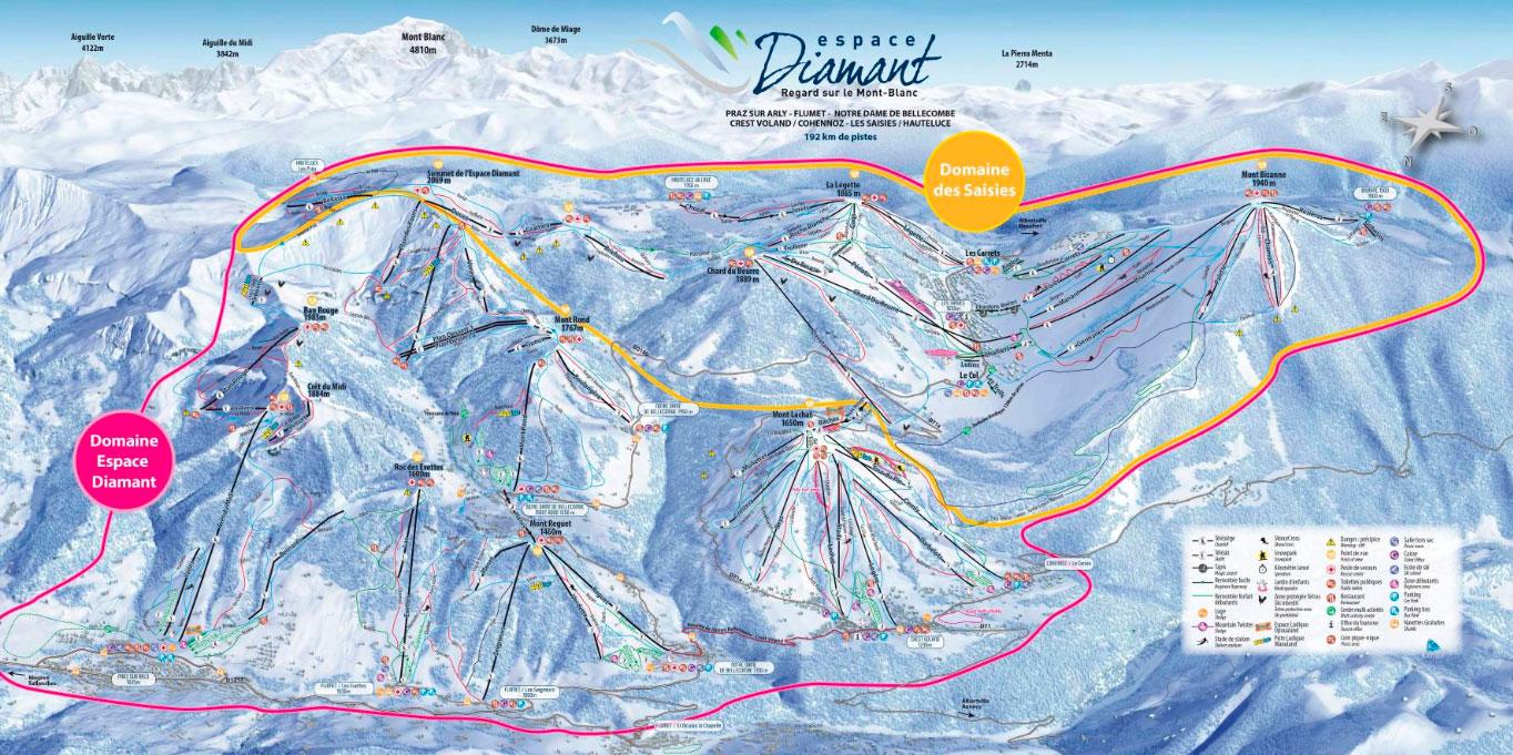 Горнолыжный курорт Espace Diamant – Les Saisies / Notre-Dame-de-Bellecombe / Praz sur Arly/Flumet / Crest-Voland 2