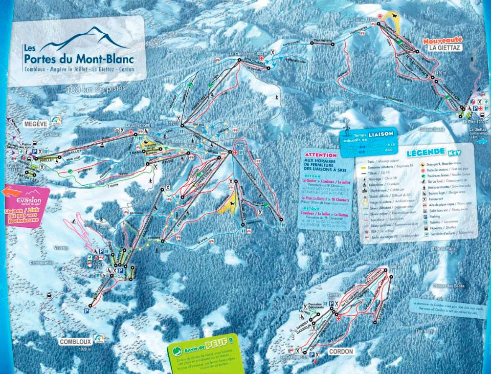 Горнолыжный курорт Les Portes du Mont Blanc – Combloux / Megève le Jaillet / La Giettaz 2