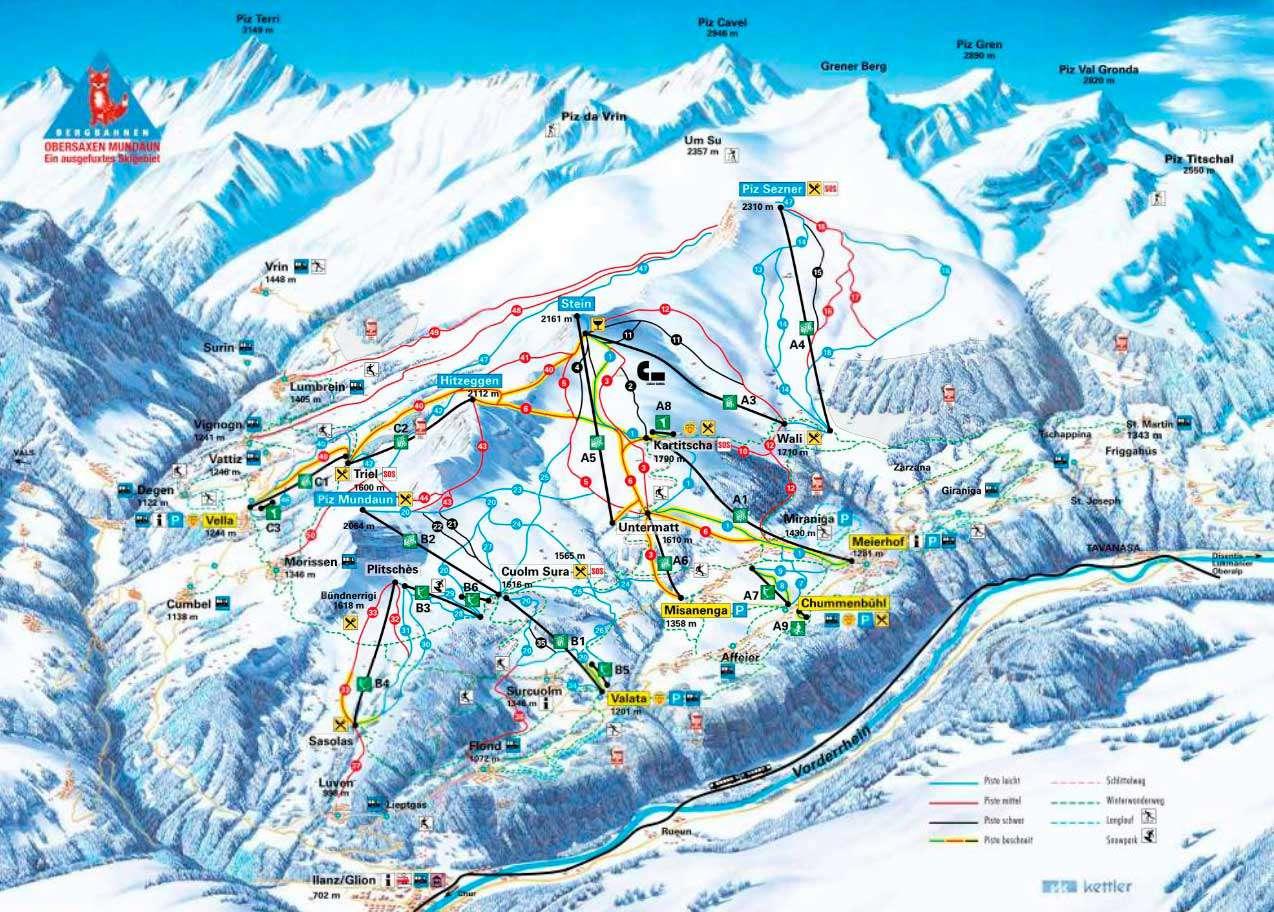 Горнолыжный курорт Obersaxen / Mundaun / Val Lumnezia 2