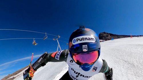 Тед Лигети вернулся к лыжным тренировкам после травмы руки 1