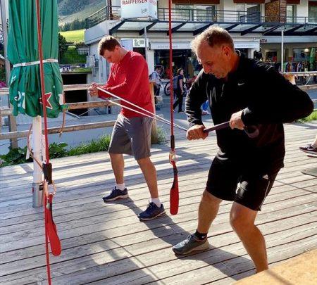 Российские горнолыжники начали тренировочный сбор в Швейцарии 1
