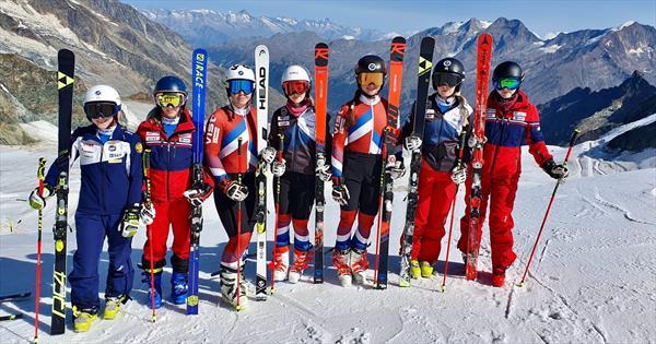 Женская сборная России начала тренировки в Швейцарии 1