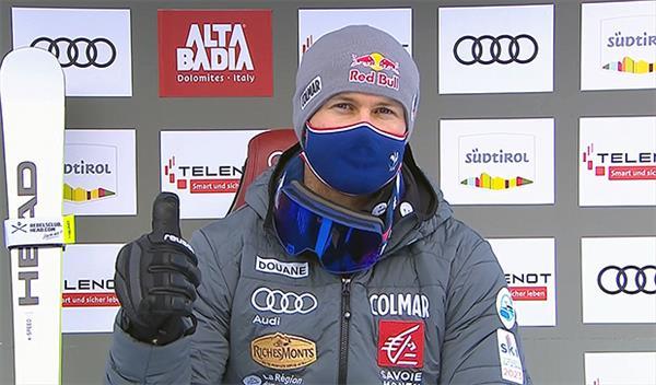 Француз Пинтуро — промежуточный лидер в гиганте Кубка мира в Альта Бадии, Александр Андриенко пробился во вторую попытку с 30-м результатом 1