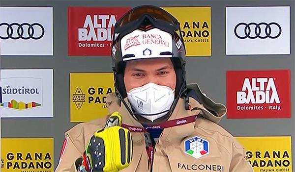 Итальянец Винатцер захватил лидерство в первом слаломе сезона в Альта Бадии, Александр Хорошилов не финишировал на первой трассе 1