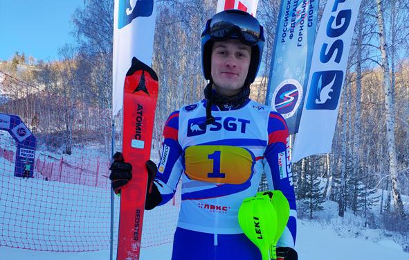 Краснодарец Глеб Мосесоы выиграл первый слалом на этапе Кубка России в Кусе 1