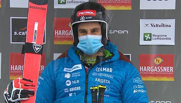 Словенец Краньец выиграл первую трассу слалома-гиганта на этапе Кубка мира в Санта Катерине, Александр Андриенко продолжит борьбу на второй трассе 1