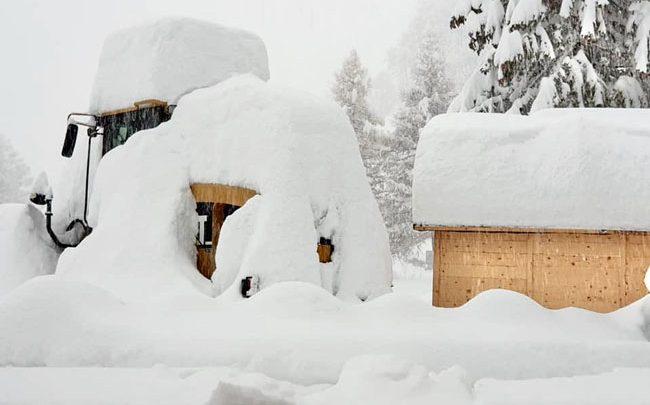В Альпах продолжаются небывалые снегопады 1