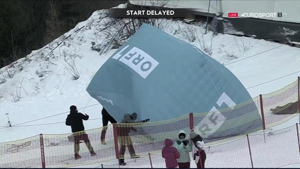 Вторая попытка женского гиганта Кубка мира в Австрии отменена из-за сильного ветра на склоне 1