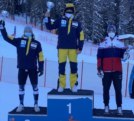 Григорий Гусев — призер международных соревнований в гиганте в Италии 1