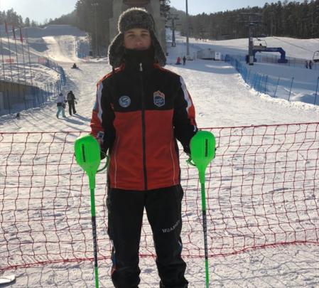 Никита Сафонов — победитель первенства России в слаломе в Красноярске 1