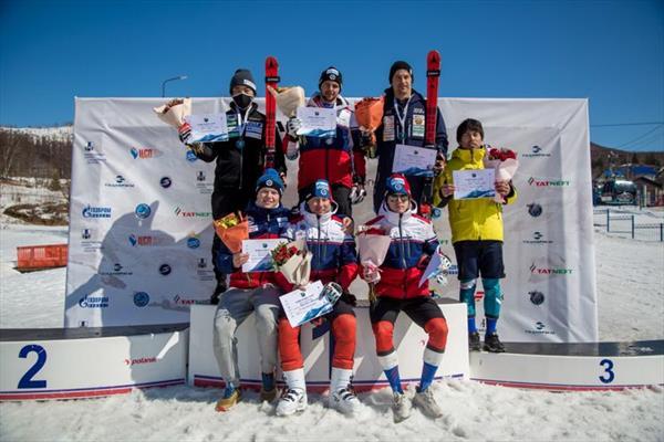 Седьмой соревновательный день Кубка Азии на Сахалине завершился победой горнолыжников Камчатки 1
